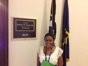 Victoria outside of Senator Casey's office on Capitol Hill